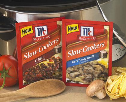 Chili and Beef Stroganoff Slow Cooker Seasonings