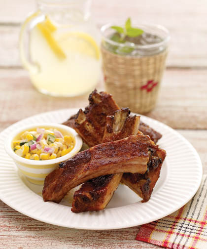 Cayenne-Cinnamon Ribs with Maple Glaze