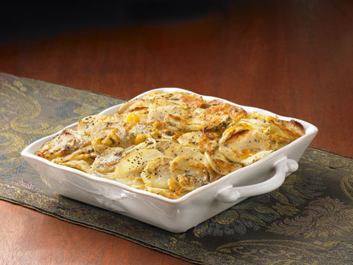 Sage Cheddar Cheese Potato Casserole
